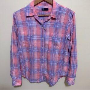 GAP Tops - GAP Pink/Purple Flannel